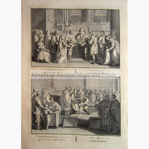 The Ceremony of Confirmation 1734 Prints KittyPrint 1700s Religion