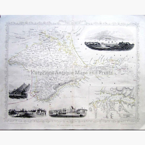 The Crimea c.1857 Maps KittyPrint 1800s Eastern Europe Military Russia