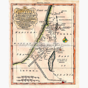 The Distances In Palestine 1780 Kittyprint Maps