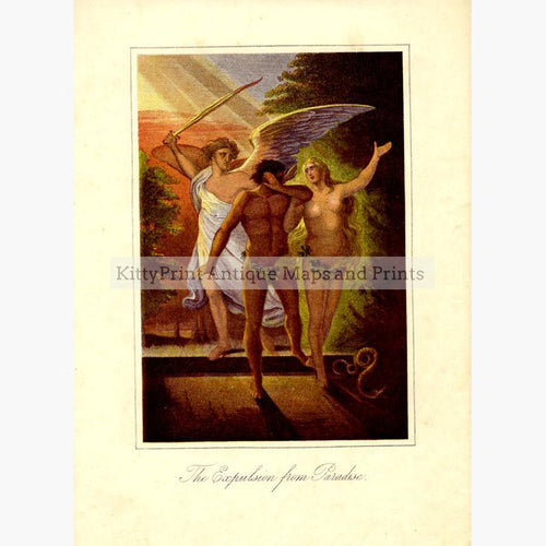 The Expulsion from Paradise c.1880 Prints KittyPrint 1800s Religion