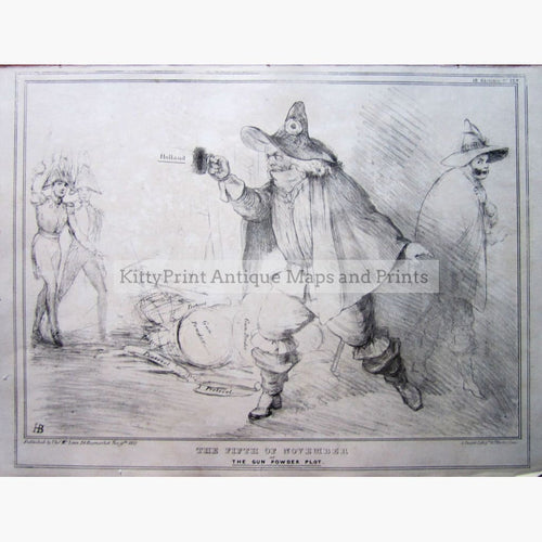 The Fifth Of November Gun Powder Plot 1832 Prints