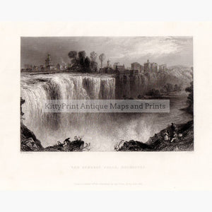 The Genesee Falls Rochester 1838 Prints