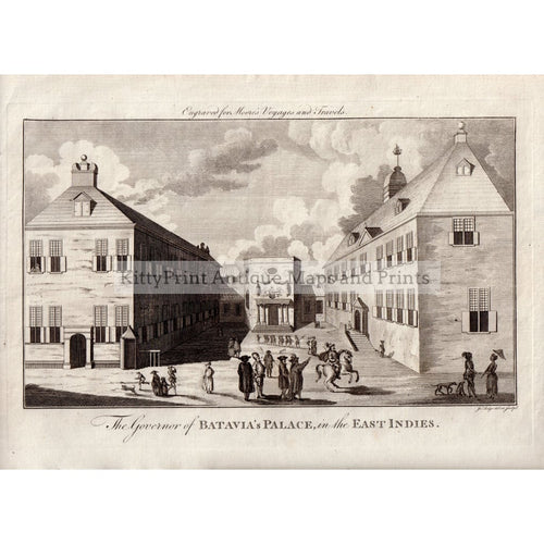 The Governor Of Batavia's Palace In East Indies 1779 Prints Kittyprint 1700S Castles & Historical Buildings India