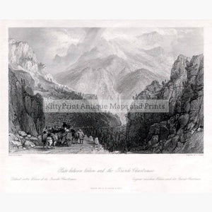 The Grande Chartreuse c.1840 Prints KittyPrint 1800s France Genre Scenes Landscapes