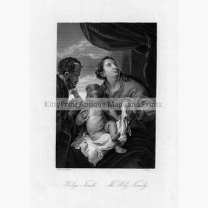 The Holy Family Heilige Familie c.1850 Prints KittyPrint 1800s Religion