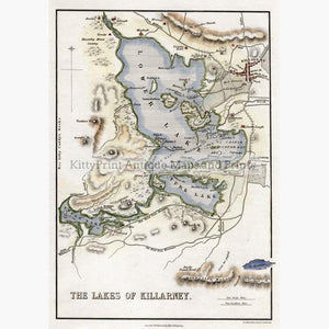 The Lakes of Killarney 1840 Maps KittyPrint 1800s Ireland