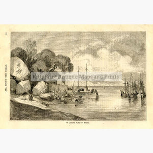 The Landing Place Macao c.1880 Prints KittyPrint 1800s China Japan & Korea Seascapes Ports & Harbours