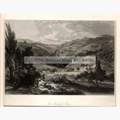 The Mount of Olives Jerusalem c.1840 Prints KittyPrint 1800s Castles & Historical Buildings Holy Land Landscapes