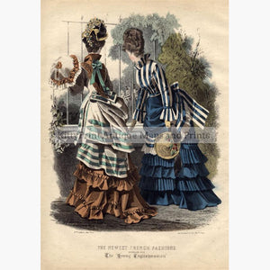 The Newest French Fashion 3 1874 Prints KittyPrint 1800s Costumes & Fashion