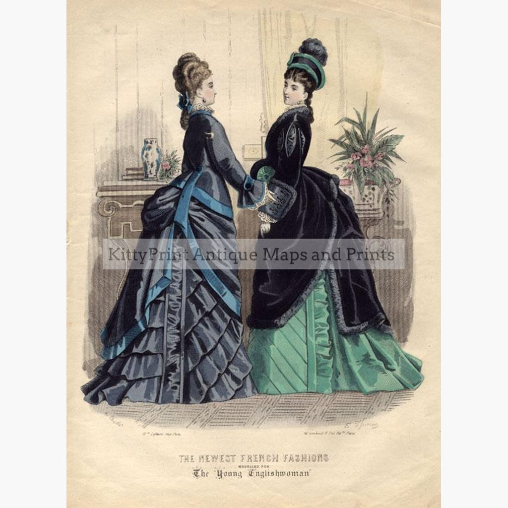 The Newest French Fashions 1 1874 Prints KittyPrint 1800s Costumes & Fashion