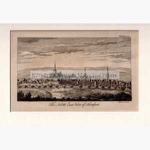 The North East View of Hereford 1764 Prints KittyPrint 1700s Castles & Historical Buildings England England in the 1700s Townscapes