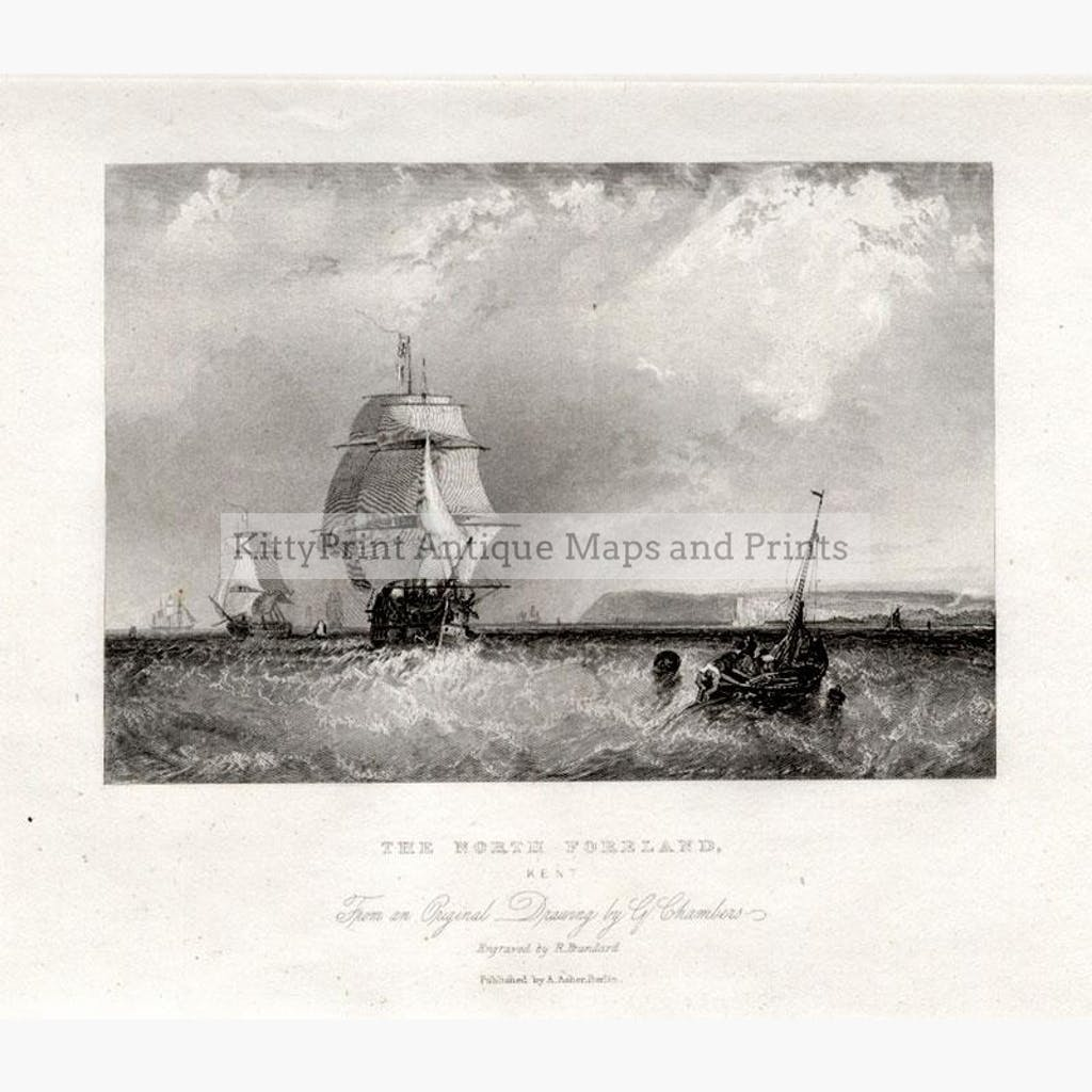 The North Foreland, c.1850 Prints KittyPrint 1800s Maritime Seascapes Ports & Harbours