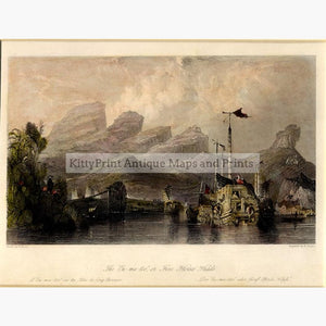 The Ou-ma-too or Five Horses Heads c.1840 Prints KittyPrint 1800s China Japan & Korea Landscapes Seascapes Ports & Harbours