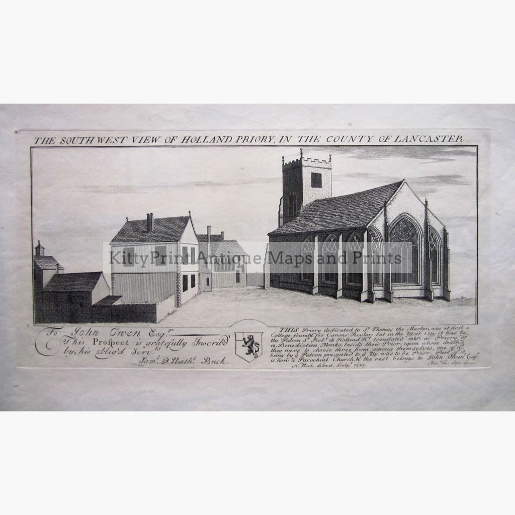 The South West View Of Holland Priory In The County Lancaster 1727 Prints