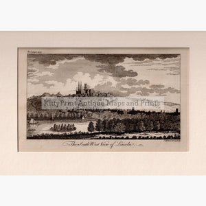 The South West View of Lincoln 1764 Prints KittyPrint 1700s Castles & Historical Buildings England England in the 1700s Townscapes