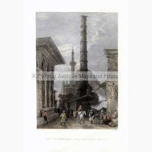 The Tchernberle Tash or Burnt Pillar c.1840 Prints KittyPrint 1800s Castles & Historical Buildings Genre Scenes Ottoman Turkey & Persia