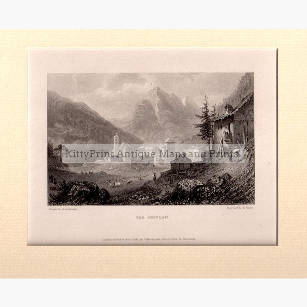 The Simplon 1832 Prints KittyPrint 1800s Landscapes Switzerland