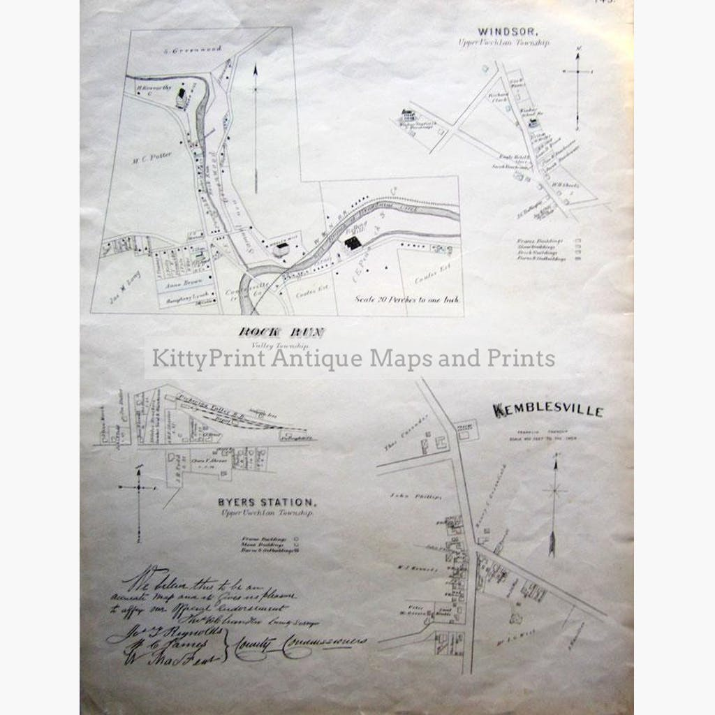 Township Map 1883 Maps KittyPrint 1800s Canada & United States Castles & Historical Buildings