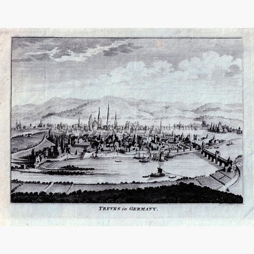 Trier Treves in Germany 1793 Prints KittyPrint 1700s Germany Townscapes