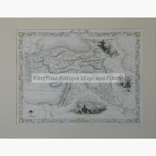 Turkey in Asia c.1840 Maps & Charts KittyPrint 1800s Turkey
