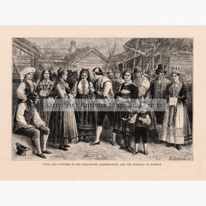 Types And Costumes Of Norway 1879 Kittyprint Prints