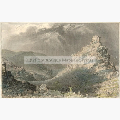Valley of Rocks near Linton Devonshire 1831 Prints KittyPrint 1800s England Landscapes