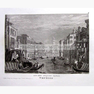 Venice On the Great Canal 1852 Prints KittyPrint 1800s Genre Scenes Italy Townscapes
