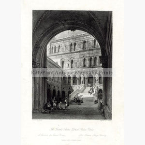 Venice The Giants Stairs 1840 Prints KittyPrint 1800s Castles & Historical Buildings Italy Townscapes