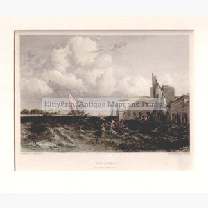 Venice The Lido 1832 Prints KittyPrint 1800s Italy Seascapes Ports & Harbours