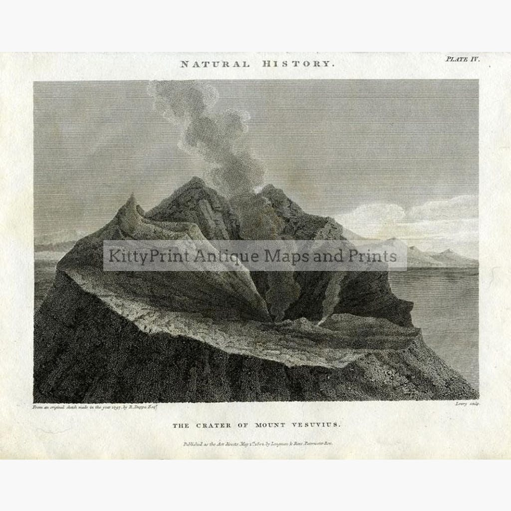 Vesuvius 1802 Prints KittyPrint 1800s Italy Landscapes