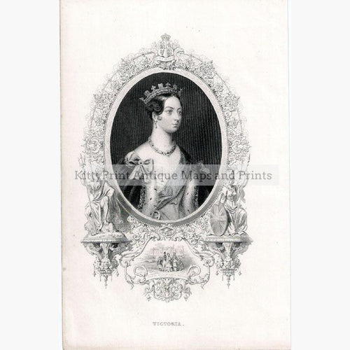 Victoria c.1850 Prints KittyPrint 1800s Royalty Nobility & Celebrity