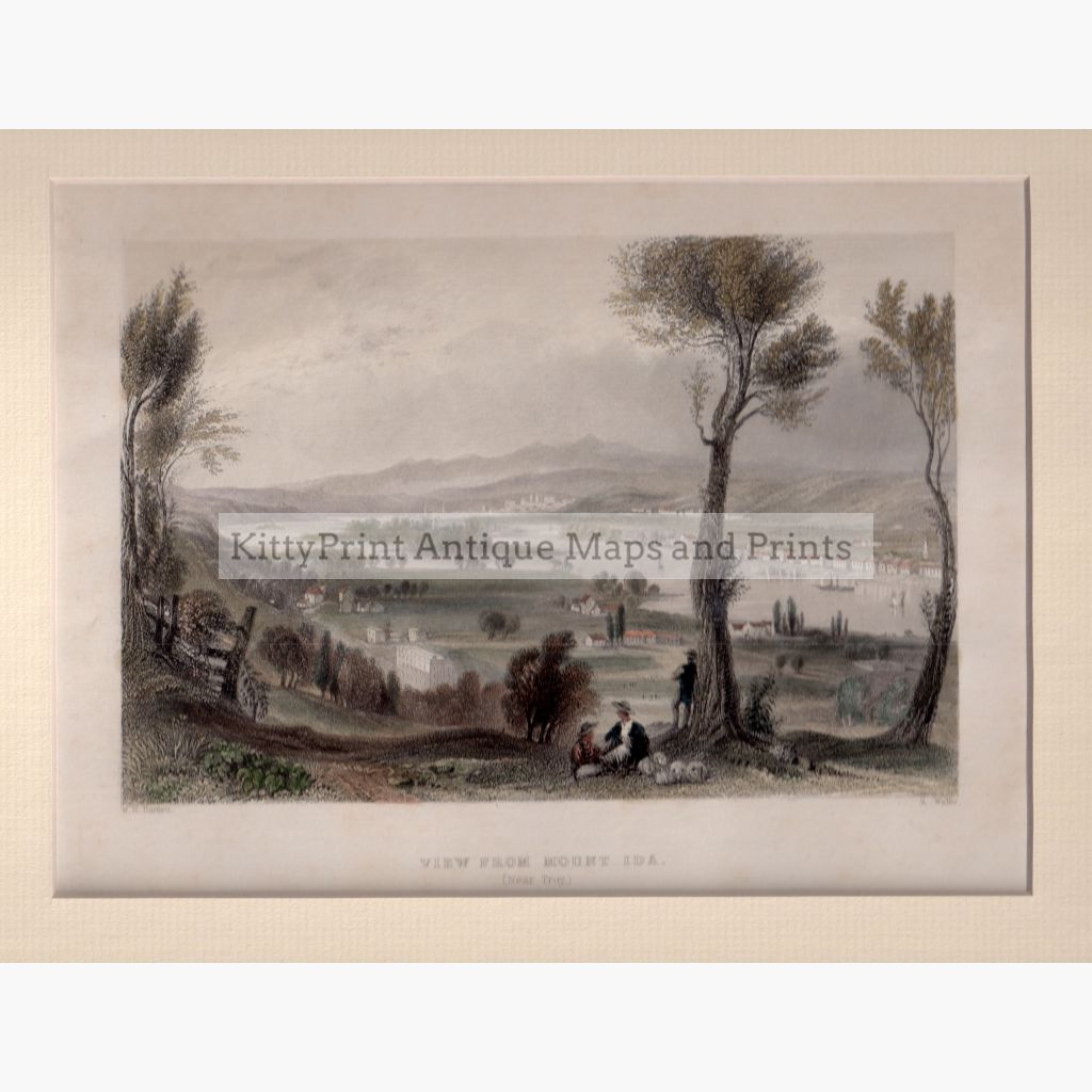 View From Mount Ida Near Troy 1839 Prints
