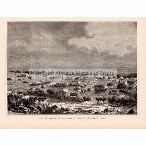 View Of Barkley Or Klipdrift A Town In Griqualand West,1880 Prints