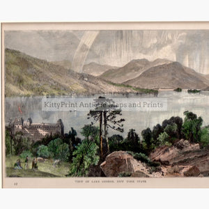 View Of Lake George New York State C.1880 Prints