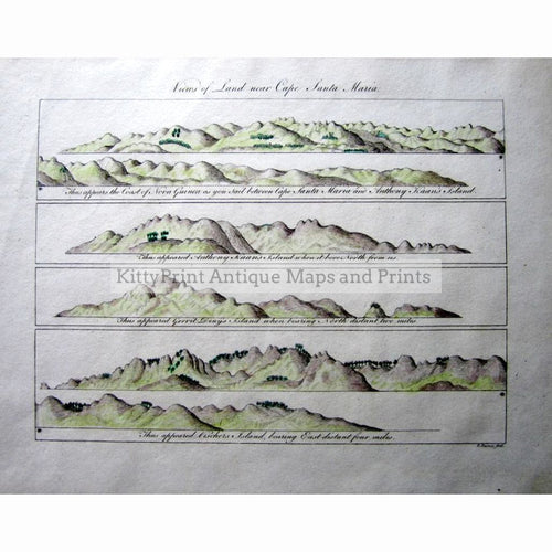 View Of Land Near Cape Santa Maria 1813. Prints
