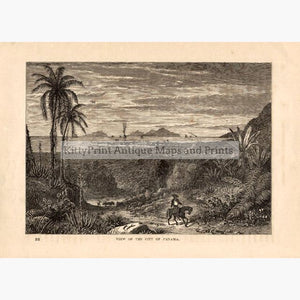 View of the City of Panama c.1880 Prints KittyPrint 1800s Central & Latin America Landscapes