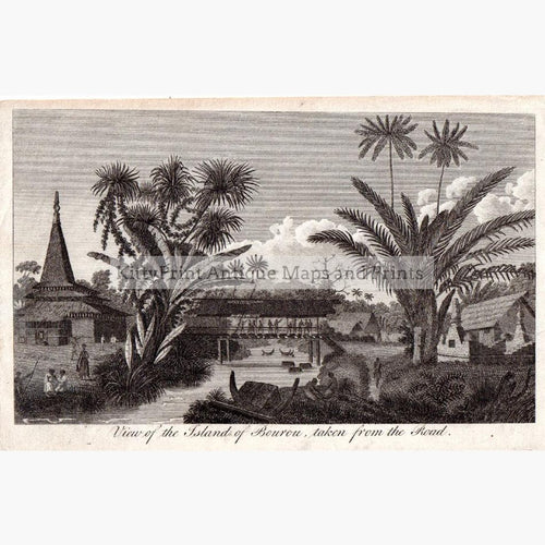 View of the Island of Bourou c.1800 Prints KittyPrint 1800s Central & Latin America Islands Landscapes Townscapes
