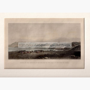 View of the passage of the Red Sea at the Gulf of Akaba c. 1840 Prints KittyPrint 1800s Historical Journeys Holy Land Landscapes