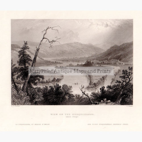 View On The Susquehanna Above Owego 1839 Prints