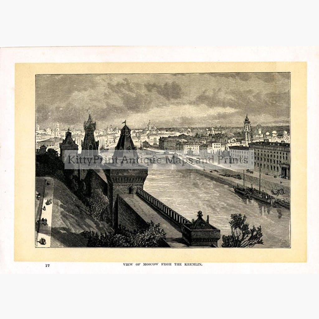View of Moscow from the Kremlin c.1876 Prints KittyPrint 1800s Russia Townscapes