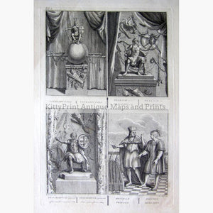 Vitzliputsli Tlaloch Tescalipuca and Mexican priests 1734 Prints KittyPrint 1700s Religion