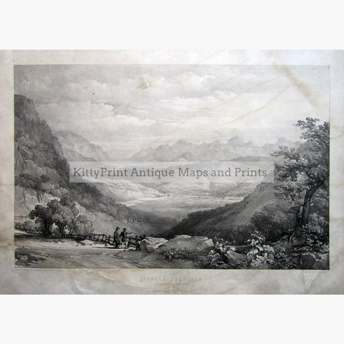 Vizelle Grenoble from the road to la Mure 1845 Prints KittyPrint 1800s France Genre Scenes Landscapes