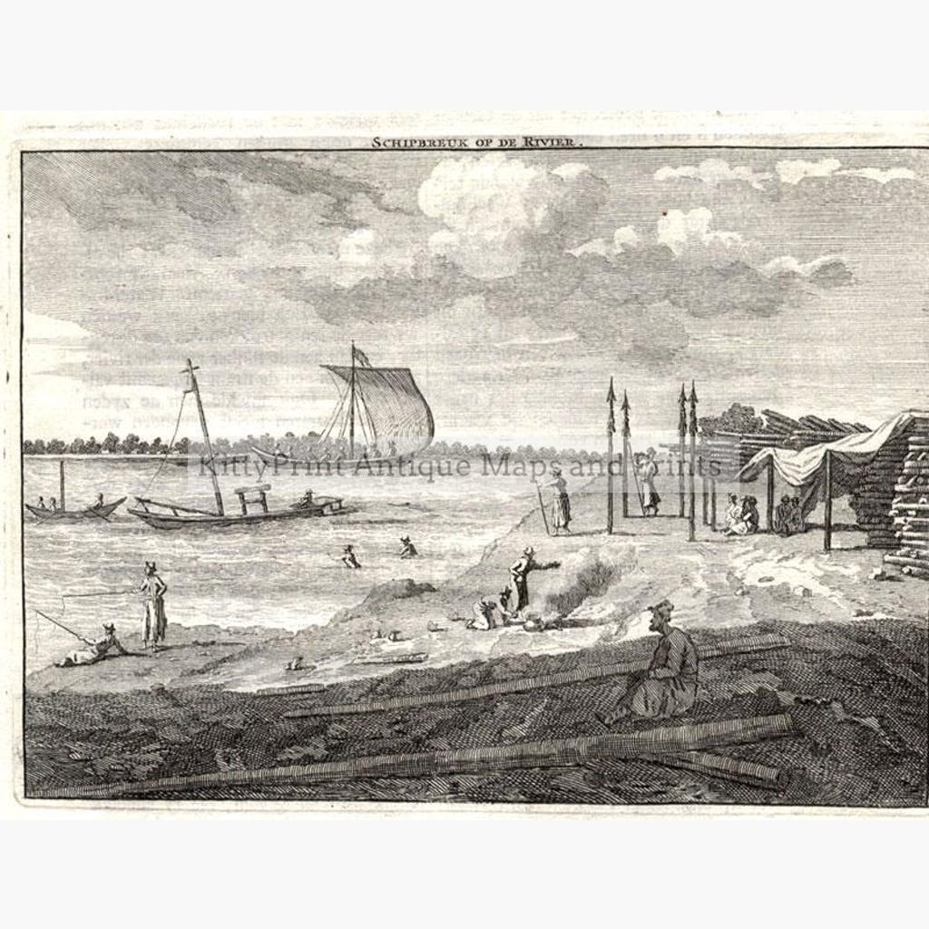 Volga shipbuilding 1714 Prints KittyPrint 1700s Engineering Genre Scenes Russia