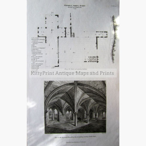 Waverly Abbey Surrey 1813 Prints