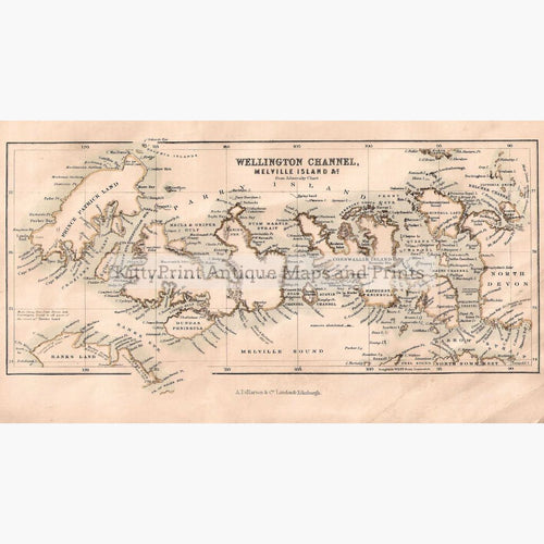 Wellington Channel Melville Island &c. From Admiralty Chart 1862. Maps