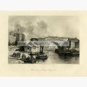 West Gate of Ching Keang Foo 1840 Prints KittyPrint 1800s China Japan & Korea Military Seascapes Ports & Harbours