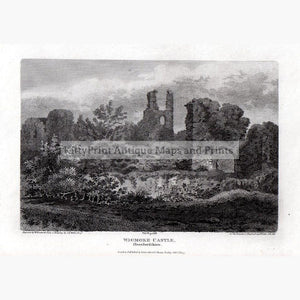 Wigmore Castle Herefordshire 1807 Prints KittyPrint 1800s Castles & Historical Buildings England