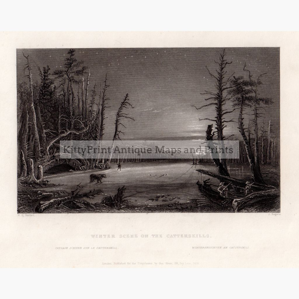 Winter Scene On The Catterskills 1839 Prints