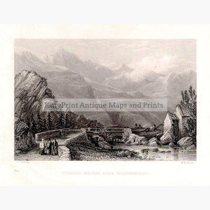 Wooden Bridge near Beddgelart 1832 Prints KittyPrint 1800s Landscapes Wales