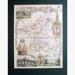 Worcestershire By Thomas Moule 1840 Maps